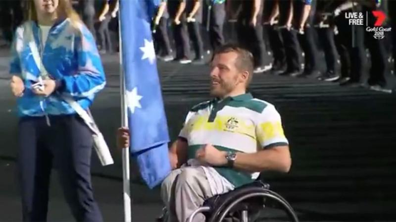 Viewers were hoping to see flag-bearer Kurt Fearnley and the other Games athletes. Source: Channel7