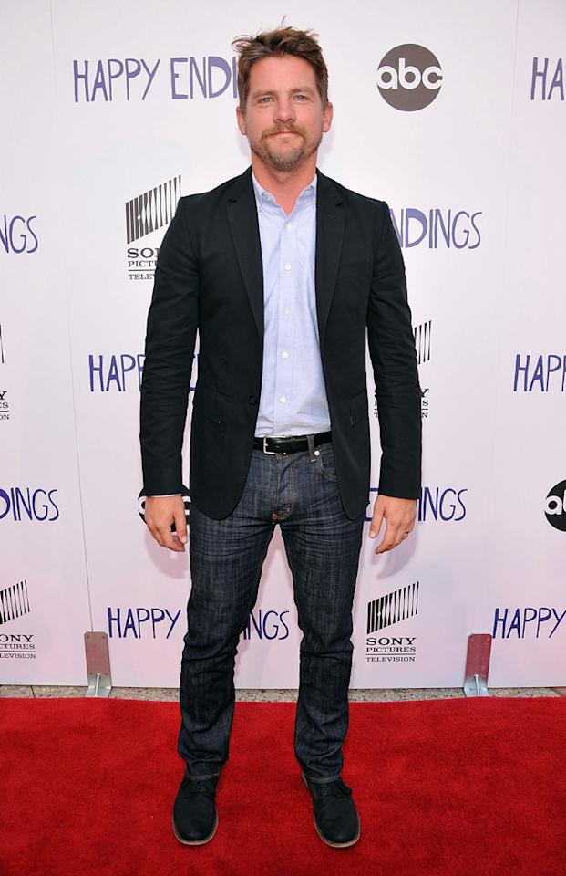 "Zach Knighton arrives at Sony Pictures Television's screening of ABC's ""Happy Endings"" at the  Leonard H. Goldenson Theatre on May 24, 2012 in North Hollywood,  California."