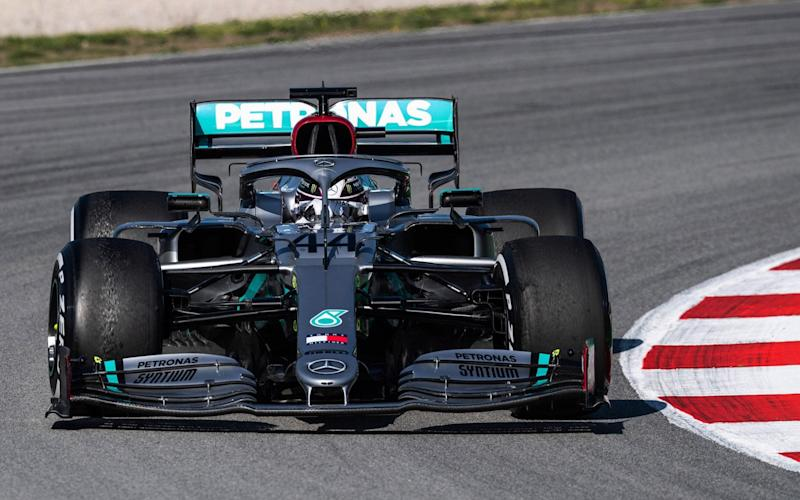Lewis Hamilton driver of Mercedes in action during the Winter Test 2 of Formula One World Championship celebrated at Circuit de Barcelona on January 19, 2020 - Marc Gonzalez / AFP7 / Europa Press Sports via Getty Images