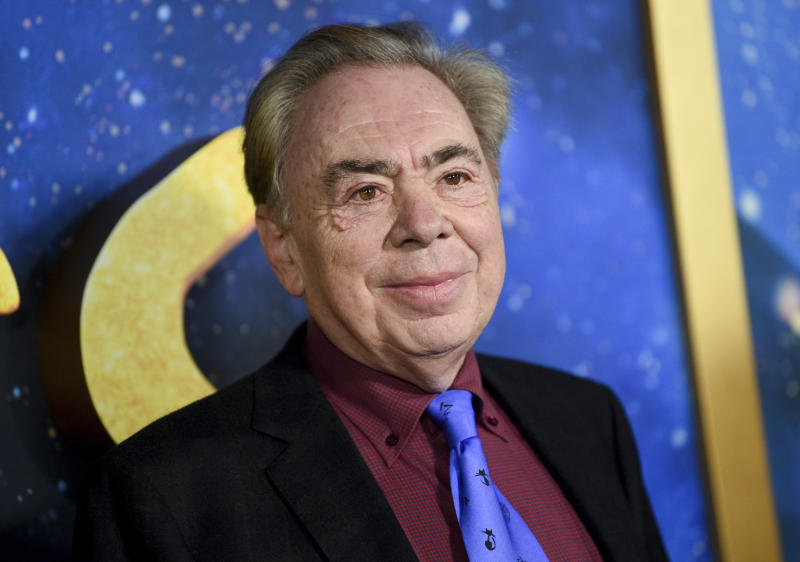 "Composer and executive producer Andrew Lloyd Webber attends the world premiere of ""Cats"" at Alice Tully Hall on Monday, Dec. 16, 2019, in New York. (Photo by Evan Agostini/Invision/AP)"