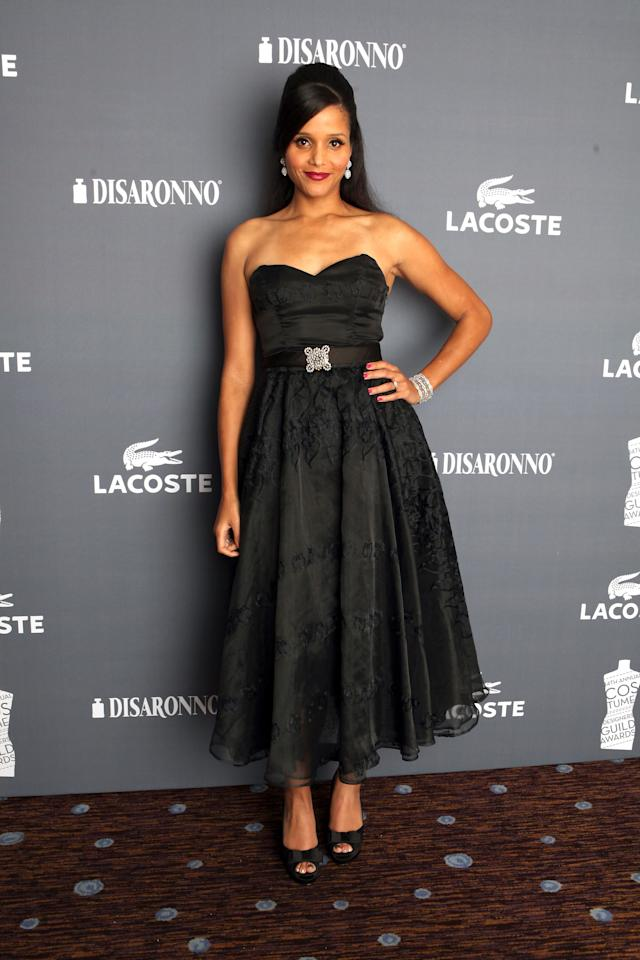 BEVERLY HILLS, CA - FEBRUARY 21:  Actress Sydney Tamiia Poitier attends the 14th Annual Costume Designers Guild Awards With Presenting Sponsor Lacoste held at The Beverly Hilton hotel on February 21, 2012 in Beverly Hills, California.  (Photo by Christopher Polk/Getty Images)