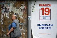 President Putin's United Russia party is widely expected to win this weekend's elections (AFP/Kirill KUDRYAVTSEV)