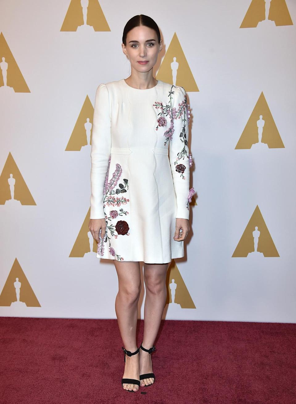 """<p>""""I hadn't really had a chance to talk with any of the other nominees about it,"""" she said about the #OscarsSoWhite hashtag. """"I've sort of been in my own little bubble. But I think it's a conversation that's definitely one that we should all be having. On top of it, I read this piece in the <i>New York Times</i> yesterday where they were talking about it and they were also talking about <i>Carol</i> and they were saying there should also be a hashtag #Oscarsostraight. So I think these are all important conversations for us to be having.""""</p><p><i>Photo: AP</i></p>"""