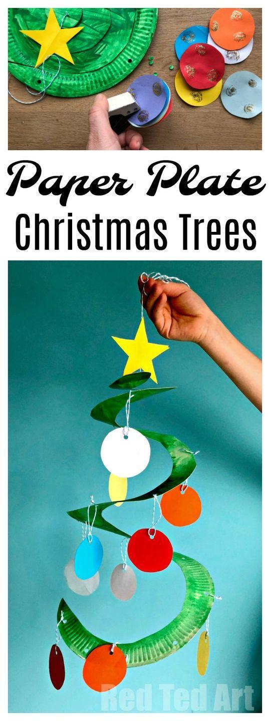 """<p>Dangle colorful scraps of paper as ornaments from a spiral-cut paper plate. It's a fun-to-spin project that even preschoolers can make.</p><p><em><a href=""""https://www.redtedart.com/paper-plate-christmas-tree-whirligig/"""" rel=""""nofollow noopener"""" target=""""_blank"""" data-ylk=""""slk:Get the tutorial at Red Ted Art"""" class=""""link rapid-noclick-resp"""">Get the tutorial at Red Ted Art </a></em></p>"""