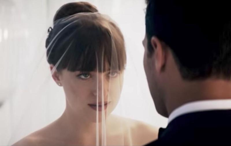 Anastasia Steele makes an honest man out of Mr Christian Grey in Fifty Shades Freed. Source: Universal Pictures