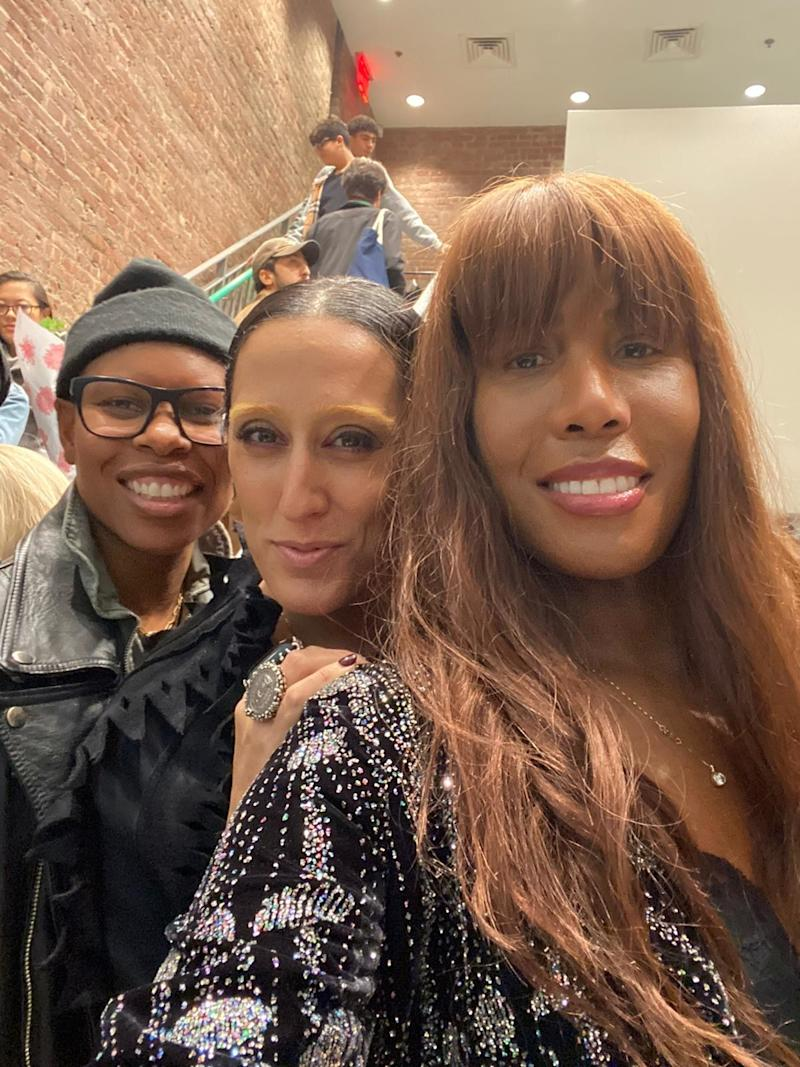 Singer Skunk Anansie, Ladyfag, and me catching up. We have worked together for many years, and she is like a sister to me.