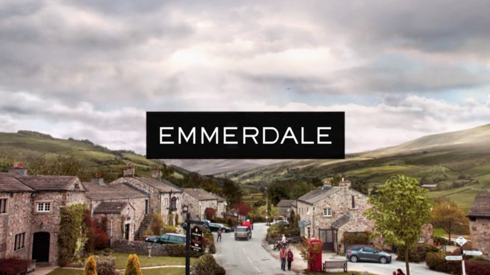 The title card for ITV soap Emmerdale. (ITV)