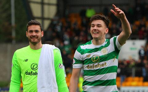 "He will be on the same field as Neymar, Kylian Mbappe and Edinson Cavani when Celtic face Paris St-Germain in their Champions League group stage tie on Wednesday night, but to see Kieran Tierney star-struck you had to be at the Queen's Hall in Edinburgh on Monday. The occasion was a solo acoustic gig by singer-songwriter Jake Bugg, after which he and Tierney got together to celebrate their mutual interests. In Bugg's case, the topic of choice was football – the musician is this month's shirt sponsor for Notts County, his local team – and Tierney presented him with a signed Celtic jersey. For Tierney, it was yet another in a fast-moving sequence of personal highlights. Only four days previously, he had captained Scotland at the age of 20 in the friendly against Holland at Pittodrie on only his ninth appearance for his county since his debut in March, 2016 at home to Denmark. During an international career which so far spans just 18 months, Tierney's versatility has seen him moved from left-back to central defence and also to right-back. In his most recent club appearance, a 4-0 victory over St Johnstone in Perth, Tierney was a member of the Celtic team who broke their own UK record of 62 successive domestic games unbeaten. Tierney was also named Scottish Premiership player of the month for October Credit: Action Plus via Getty Images On Thursday he was named Scottish Premiership player of the month for October and today he will make his 100th appearance for Celtic in the lunchtime kick-off against Ross County in Dingwall. It is not a feat upon which the prudent gambler would have wagered folding money in 2015, a year which began with Tierney suffering a broken leg. Since then he has sustained ankle ligament damage and a shoulder injury. Adversity, however, confirmed Tierney's characteristic resilience and this season he has made 24 appearances for his club and five for Scotland. He has, in every sense, taken great strides since his first appearance for Celtic as a late substitute in a game with Dundee at Dens Park on April 22, 2015. ""I could never have envisaged this when I made my debut. It's happened quite quickly as well,"" Tierney said, when invited to review his meteoric progress. ""Other than the injuries I've had, it's all been good. ""I'd been in the squad for a few games then we played Ross County at home and I'd made the bench for the very first time. The next day I broke my leg at training and I was thinking, 'What chance do I have?' but I believe that it made me hungrier. I came back and worked at stuff I was weak on try to come back stronger. ""When you have injuries you just need to try and focus on the positives that you can take from them. They are horrible, though – this time last year I was going around with a plaster on my leg and wearing a shoulder brace for two months. ""So now, when we have a busy schedule of games – like the one coming up – you don't moan. You just want to be available to play in all of them."" There have been inevitable comparisons with legendary left-back, Danny McGrain, whose spell at Celtic between 1970 and 1987 encompassed 663 matches. ""How many games did he play? That's mad, isn't it?"" Tierney said. ""I'm just taking it as it comes. ""I don't take anything for granted and work as hard as I can every day. The more matches I play the better it is for me and, hopefully, I'll keep on learning."" Buttressed by a close-knit family and childhood friends with common interests, Tierney presents a lively but steady personality. ""I'm texting my pals at half three or four o'clock asking if anyone is ready for Call of Duty, but they are all working until five,"" he said. ""Every time I've been injured and come out of hospital my friend Jamie has come to stay with me, keep me company and take my mind off it. We've been pals since nursery school. I've had the same friends since the very start and I think that's important."" Tierney's unseen contribution to Celtic team spirit is as dressing room DJ, with a retro list of tastes which includes Whitney Houston, Lionel Richie, Spandau Ballet, Stone Roses and Oasis. ""The boys love it. They always ask me to do the tunes after games so I must be doing something right,"" he insisted. ""I wasn't born when the stuff was out but my musical taste is brilliant, to be fair."" It's not the only Tierney attribute that merits that description – or why Jake Bugg's Lightning Bolt is an entirely apt theme song for the singer's Celtic celebrity fan."