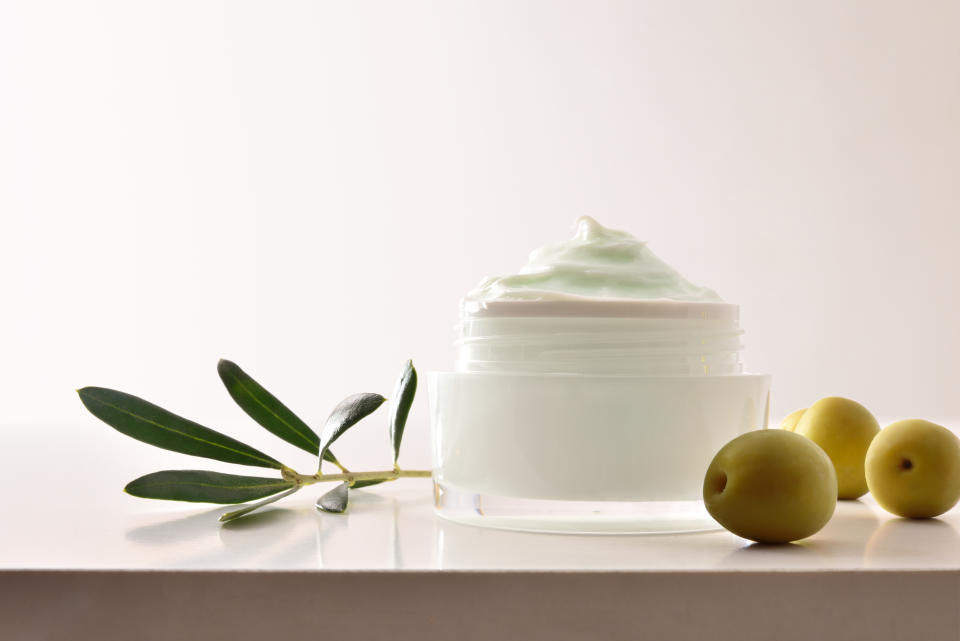 Moisturising cosmetic cream with olive extract for skin. PHOTO: Getty