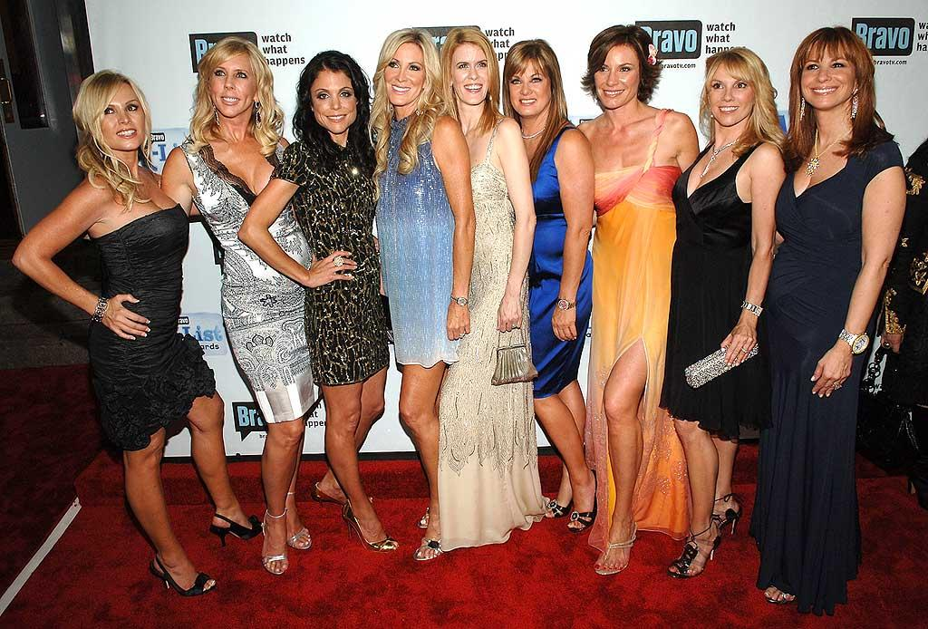 "Is this a reunion of the 'Real Housewives of NYC and the O.C.,"" or prom court? Jamie McCarthy/<a href=""http://www.wireimage.com"" target=""new"">WireImage.com</a> - June 4, 2008"
