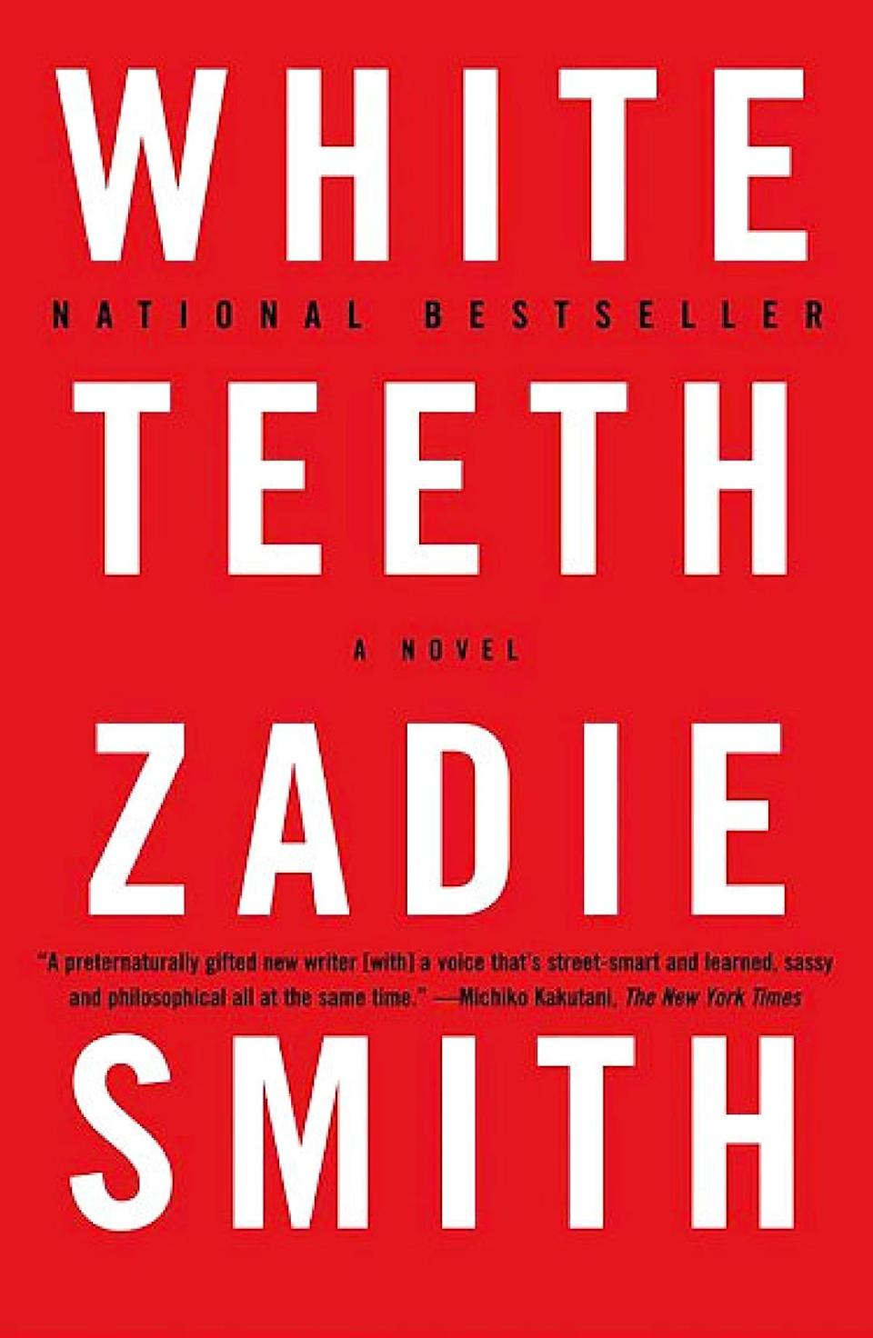 "<p><a href=""https://www.popsugar.com/buy?url=https%3A%2F%2Fwww.amazon.com%2FWhite-Teeth-Novel-Zadie-Smith%2Fdp%2F0375703861%2Fref%3Dtmm_pap_swatch_0%3F_encoding%3DUTF8%26qid%3D1488995990%26sr%3D1-1&p_name=%3Cb%3EWhite%20Teeth%3C%2Fb%3E%20by%20Zadie%20Smith&retailer=amazon.com&evar1=tres%3Auk&evar9=43250262&evar98=https%3A%2F%2Fwww.popsugar.com%2Flove%2Fphoto-gallery%2F43250262%2Fimage%2F43278343%2FWhite-Teeth-Zadie-Smith&list1=books%2Cwomen%2Creading%2Cinternational%20womens%20day%2Cwomens%20history%20month&prop13=api&pdata=1"" class=""link rapid-noclick-resp"" rel=""nofollow noopener"" target=""_blank"" data-ylk=""slk:White Teeth by Zadie Smith""><b>White Teeth</b> by Zadie Smith</a></p>"