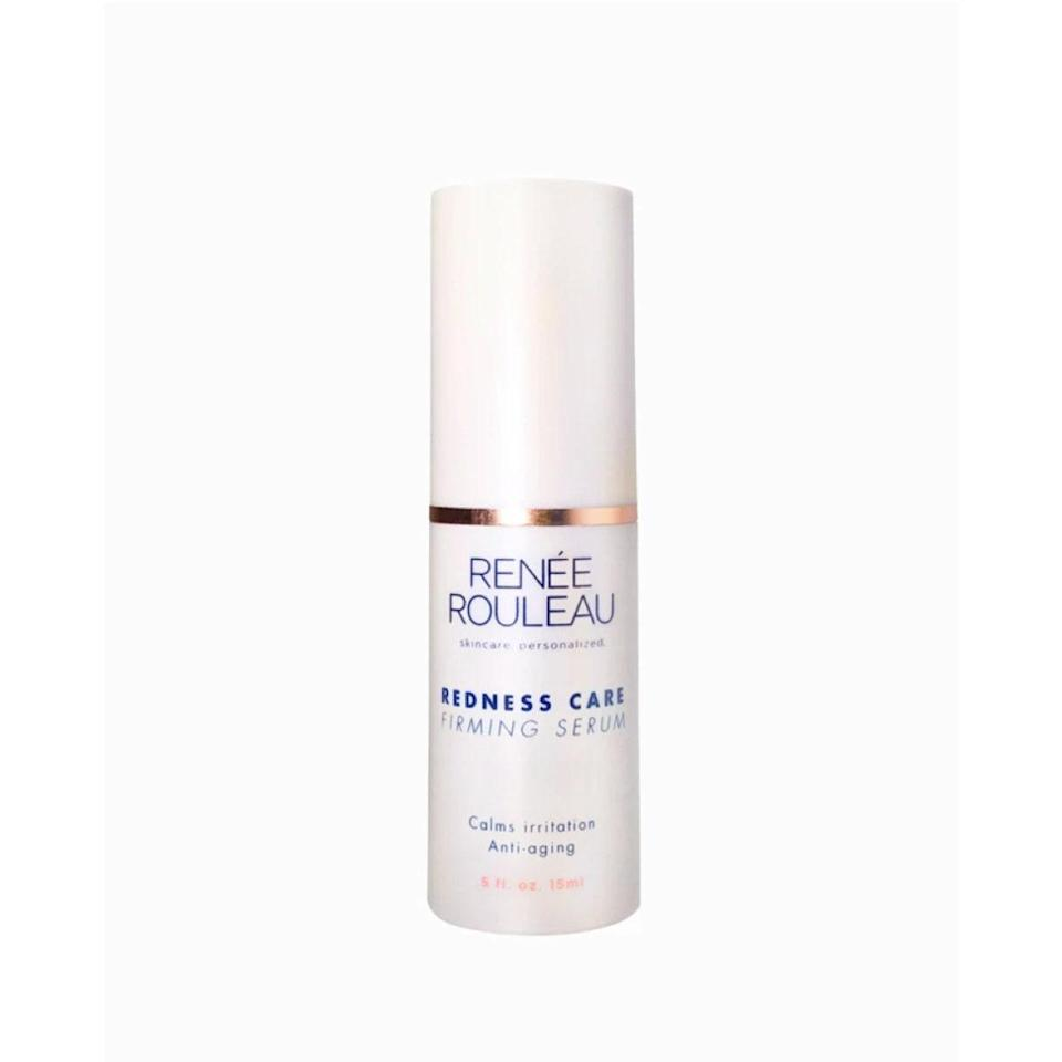 """I met with esthetician Renée Rouleau over Facetime a few weeks ago, and since then my skin care routine has switched over to about 95% her products, and it's really working for me. While I certainly think the whole routine is helping, the Redness Care Firming Serum has been my surprise MVP. To be honest, I didn't expect much of it since aging isn't really a concern of mine, but redness certainly is. It's helped significantly bring down inflammation in both active pimples and healing ones, thanks to healing ingredients like Sea Whip Extract and Red Marine Algae, and my skin looks plump and dewy like a little cherub. And, hey, if it helps with firming in the long run, I'm not complaining. <em>—B.C.</em> $44.5, Renée Rouleau. <a href=""""https://www.reneerouleau.com/products/redness-care-firming-serum"""" rel=""""nofollow noopener"""" target=""""_blank"""" data-ylk=""""slk:Get it now!"""" class=""""link rapid-noclick-resp"""">Get it now!</a>"""