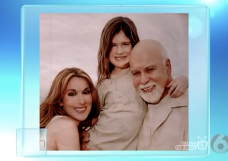 Celine Dion and her son in a picture on The Ellen DeGeneres Show