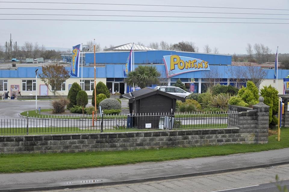 A general view of Pontin's signage at Brean, Somerset.
