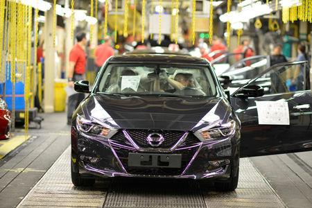 FILE PHOTO: A finished Nissan Altima comes off the line at Nissan Motor Co's automobile manufacturing plant in Smyrna, Tennessee, U.S., August 23, 2018.  REUTERS/William DeShazer/File Photo