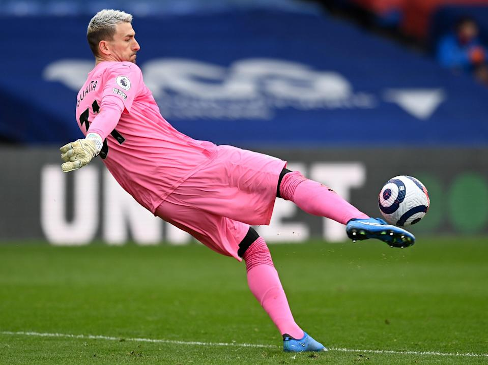 Crystal Palace goalkeeper Vicente Guaita (POOL/AFP via Getty Images)