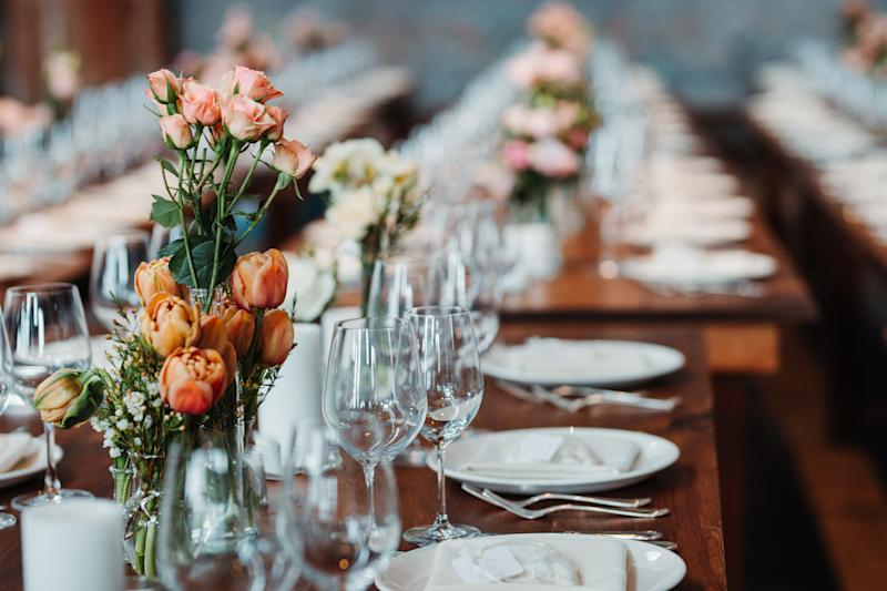 Wedding guests will be required to remain seated, and not mingle or sing. Source: Getty