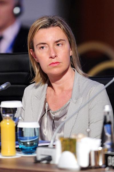EU Foreign Policy chief Federica Mogherini attends the NATO foreign ministers conference on May 14, 2015 in Antalya, Turkey (AFP Photo/)
