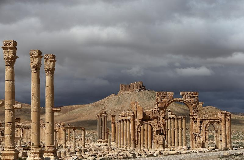 Palmyra's ruins are on the UNESCO World Heritage list, and before the war around 150,000 tourists a year visited the town (AFP Photo/Joseph Eid)