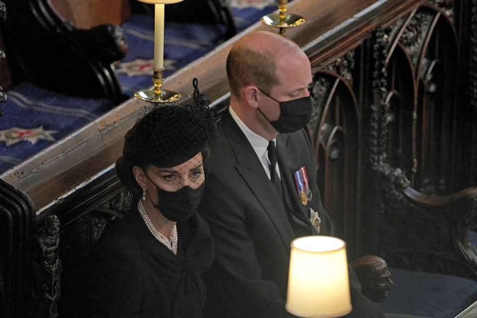 The couple attend Prince Philip's funeral on 17 April 2021Getty Images