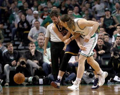 An MRI will reveal the extent of damage to Kevin Love's shoulder. (Getty Images)