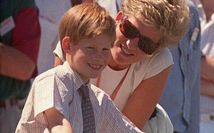 Princess Diana and Prince Harry at the British Grand Prix at Silverstone in 1994 - Paul Greaves/Shutterstock