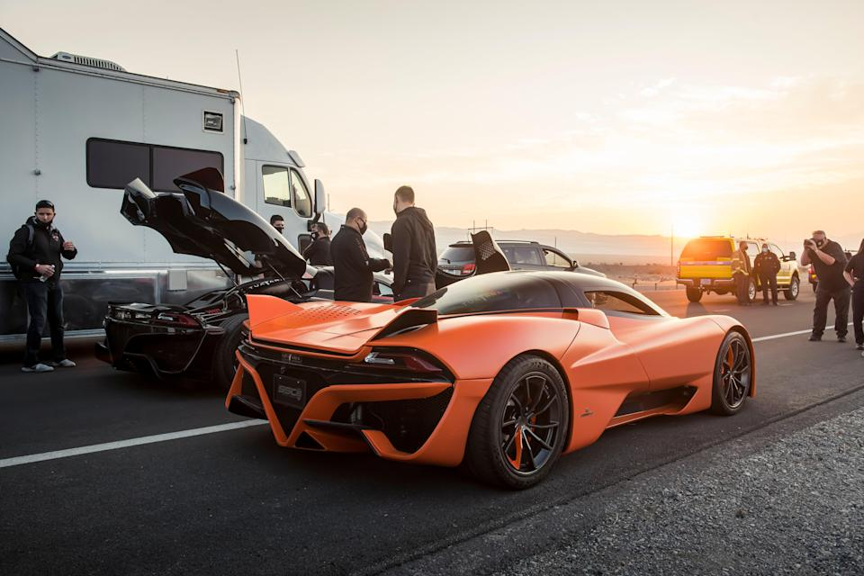 A non-speed-record-prepped SSC Tuatara in a subtle shade of orange.