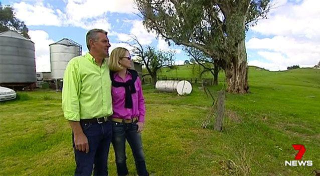 Mr Dunstan with his wife Andrea. Source: 7 News