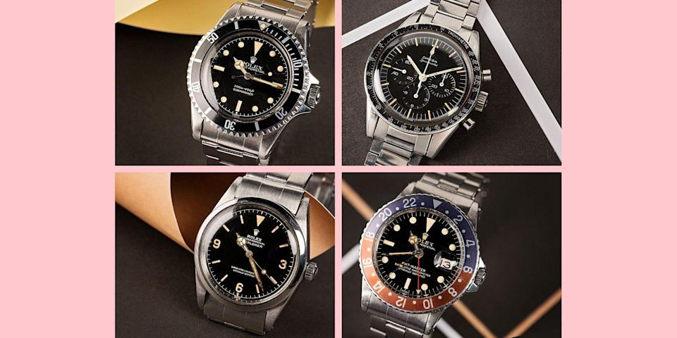 """<p class=""""body-dropcap"""">When it comes to sport watches and tool watches—that is, everything from deep-sea divers to racetrack-ready chronographs—it's hard to overstate the influence of the 1960s. Not only did some of the watches we now consider icons either get their introduction or reach a new level of popularity, but the design codes and aesthetics of the era still loom large over both the modern and vintage markets. </p><p>Not a history buff? No problem. Here's the short version: You like cool, vintage-y watches? Well you're gonna <em>love</em> the watches of the '60s, because there's a very good chance that everything you dig about the idea of old-school timepieces was informed by the era. And here's some very good news about that: Bob's Watches, one of the biggest secondhand marketplaces for horological grails, just introduced <a href=""""https://www.bobswatches.com/rolex-auctions"""" rel=""""nofollow noopener"""" target=""""_blank"""" data-ylk=""""slk:its latest &quot;Fresh Finds&quot; auction"""" class=""""link rapid-noclick-resp"""">its latest """"Fresh Finds"""" auction</a> dedicated to the very decade we've been talking about. </p><p>The lineup includes four models, all of which are more than worthy of your attention. There's a GMT Master ref. 1675 from 1961 (with a Pepsi dial, naturally), plus a black-dial Submariner (ref. 5512) from the same year. There's also a ref. 1016 Explorer from 1963 and, if you're looking to delve just a little further into the decade, a pre-moon landing Omega Speedmaster from 1965. All of 'em have quite the backstory. The only question is, are you buying just one or going in for the whole lot? <em>Haaaaa</em> just kidding. Or maybe not?</p><p>Check everything out right here, and head to Bob's Watches to get your bids in (there's no buyer's premium, which is an extra-nice bonus) before the auction wraps up on August 4. Good luck, and if you're feeling generous, feel free to send literally any of these my way. (Hey, it could happen. Right? <em>Right?!?</em>)</p>"""
