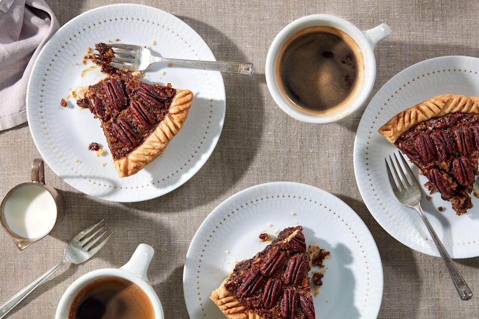 """This ain't your sugar bomb of a pie. The kick of rum and the slight bitterness of espresso balance out the sweetness. <a href=""""https://www.epicurious.com/recipes/food/views/brown-butter-pecan-pie-with-rum-and-espresso-51257300?mbid=synd_yahoo_rss"""" rel=""""nofollow noopener"""" target=""""_blank"""" data-ylk=""""slk:See recipe."""" class=""""link rapid-noclick-resp"""">See recipe.</a>"""