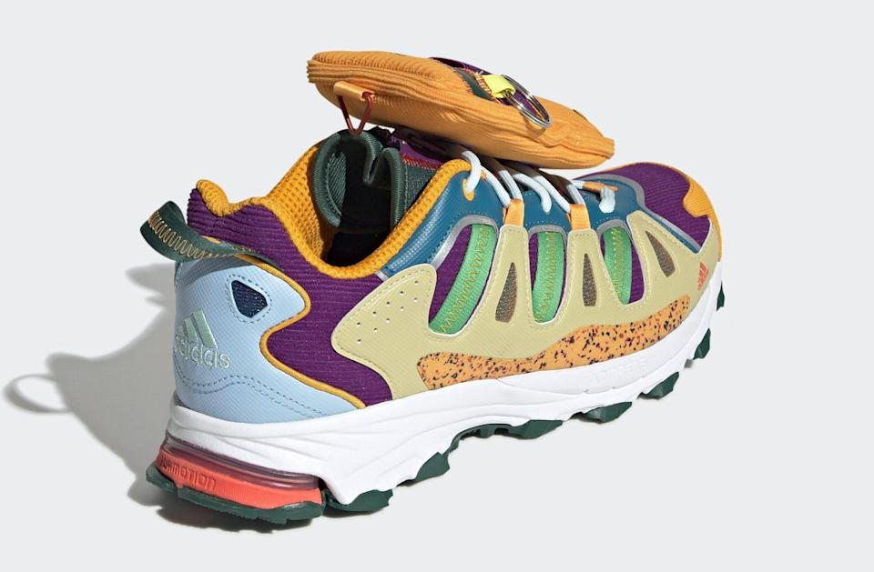 The heel view of the Sean Wotherspoon x Adidas Superturf Adventure collaboration.  - Credit: Courtesy of Adidas