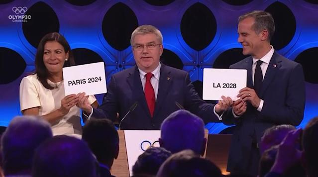 "<p>The 2024 and 2028 Summer Olympics have officially been granted to Paris and Los Angeles, respectively, the International Olympic Committee announced with a unanimous vote on Wednesday at a session in Lima, Peru.</p><p>Both cities will make history as they join London as three-time hosts of the Summer Games. Paris will also get to host on the centennial anniversary of the 1924 Olympics. More important than any historical factoid is that the decision means that the IOC has secured host cities for the next three Summer Olympics after several potential host cities like Budapest, Rome and Hamburg backed out due to backlash from the public and budgeting concerns. </p><p>The abandoned stadiums as well as the headlines of corruption and debt have muddled Rio de Janeiro's legacy for 2016. Tokyo's budget for 2020 continues to balloon. IOC President Thomas Bach eventually had to make the decision to award 2024 and 2028 simultaneously. </p><p>Both cities believe that due to infrastructure and venues that are already in place, they can avoid the rising costs of hosting the Olympics. Throughout the bidding process, Los Angeles noted that 97% of proposed venues for their Games already exist or would be temporarily set up. Los Angeles also says its $5.3 billion cost will be covered by sponsorships, ticket sales and other revenue sources.</p><p>This ends a string of unsuccessful bids by Paris after they tried to land the 1992, 2008 and 2012 Olympics.</p><p>Paris' lone stadium that will be built just for the Games is a brand new aquatics center that will host all swimming and diving events—where a 27-year-old Katie Ledecky could still be adding to an already-impressive medal haul in her career. The center is estimated to cost about $123 million and will be paid for by public funds.</p><p>Paris also has a planned $1.44 billion Olympic Village that will be located near the River Seine. Los Angeles saved itself from any major Olympic Village costs by moving its plans to the dorms and campus at UCLA. Only $33.6 million is listed in Los Angeles' budget for Olympic Village costs.</p><p>The United States finally lands a Summer Games after failed bids by New York for 2012 and Chicago for 2016. The last American city to host the Summer Games was Atlanta in 1996.</p><p>""This is a momentous day for the people of Los Angeles and the United States,"" Los Angeles Mayor Eric Garcetti said in a USOC release. ""For the first time in a generation, we are bringing the Games back to the City of Angels. LA loves the OIympics because the Games have lifted up our city twice before. But to us the Games have always represented an even brighter future and the chance to harness the power of sport and the Olympic Movement again to inspire the next generation – for the next 11 years and beyond.""</p><p>Los Angeles last hosted in 1984 but now has 11 years to get ready for it's next big show. Many of the plans for 2028 are the same as they would have been if they were awarded for 2024. LA 2028 also looks to reap the benefits of an estimated $2.2 billion package to get its legacy plans started. A majority of Los Angeles residents appear to be in favor of host the 2028 Olympics after an independent poll by Loyola-Marymount showed an 83% approval rating.</p>"