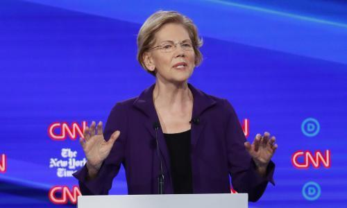 Elizabeth Warren was attacked from all sides in debate – and she barely batted an eye