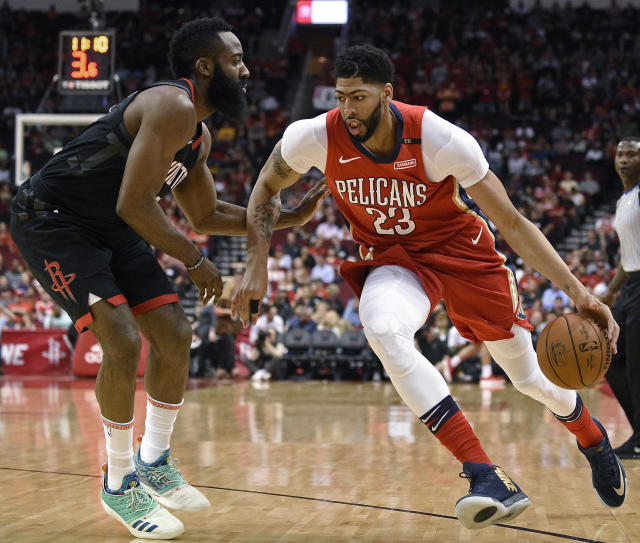 "<a class=""link rapid-noclick-resp"" href=""/nba/teams/nor"" data-ylk=""slk:New Orleans Pelicans"">New Orleans Pelicans</a> forward <a class=""link rapid-noclick-resp"" href=""/nba/players/5007/"" data-ylk=""slk:Anthony Davis"">Anthony Davis</a> maybe shaved off his signature unibrow and the NBA will never be the same. (AP Photo)"