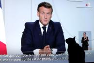 French President Emmanuel Macron on national television