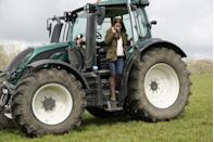 <p>Kate even tried out the tractor during her visit. </p>
