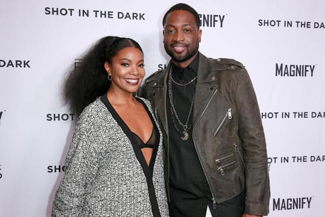 Gabrielle Union and Dwyane Wade attend a screening on Feb. 15 in West Hollywood, Calif. (Photo: Rich Fury/Getty Images)