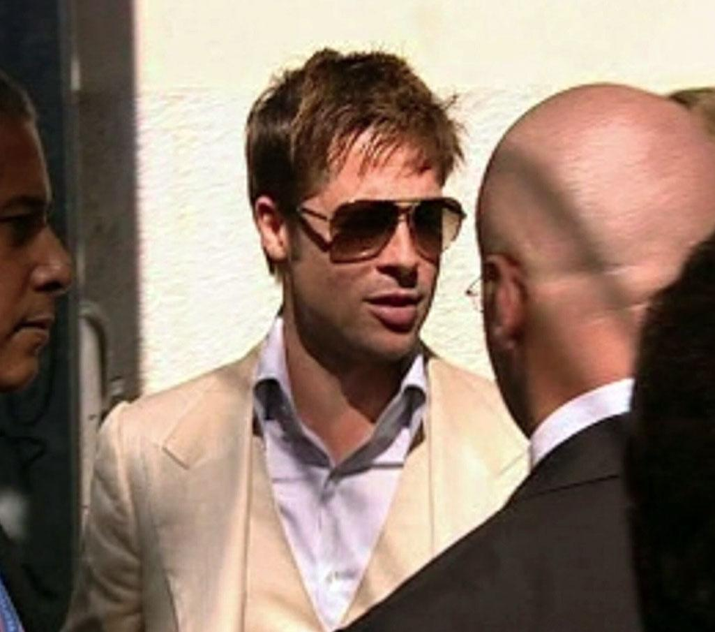 "Brad Pitt was reminded of the dangers of celebrity while attending the Venice Film Festival. <a href=""http://www.splashnewsonline.com/"" target=""new"">Splash News</a> - September 3, 2007"