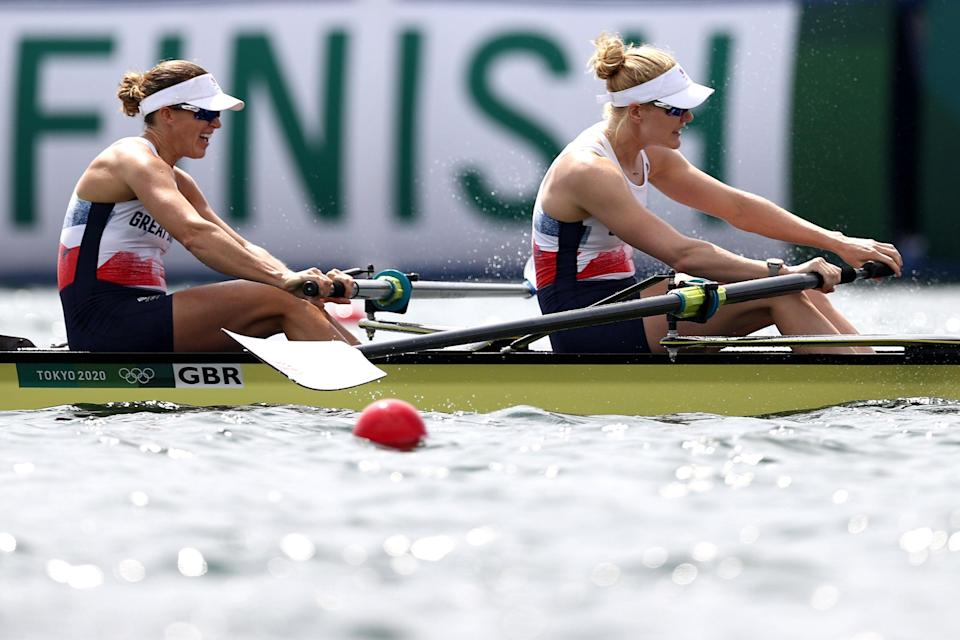 Glover and Polly Swann just missed out on a bronze medal (Getty Images)