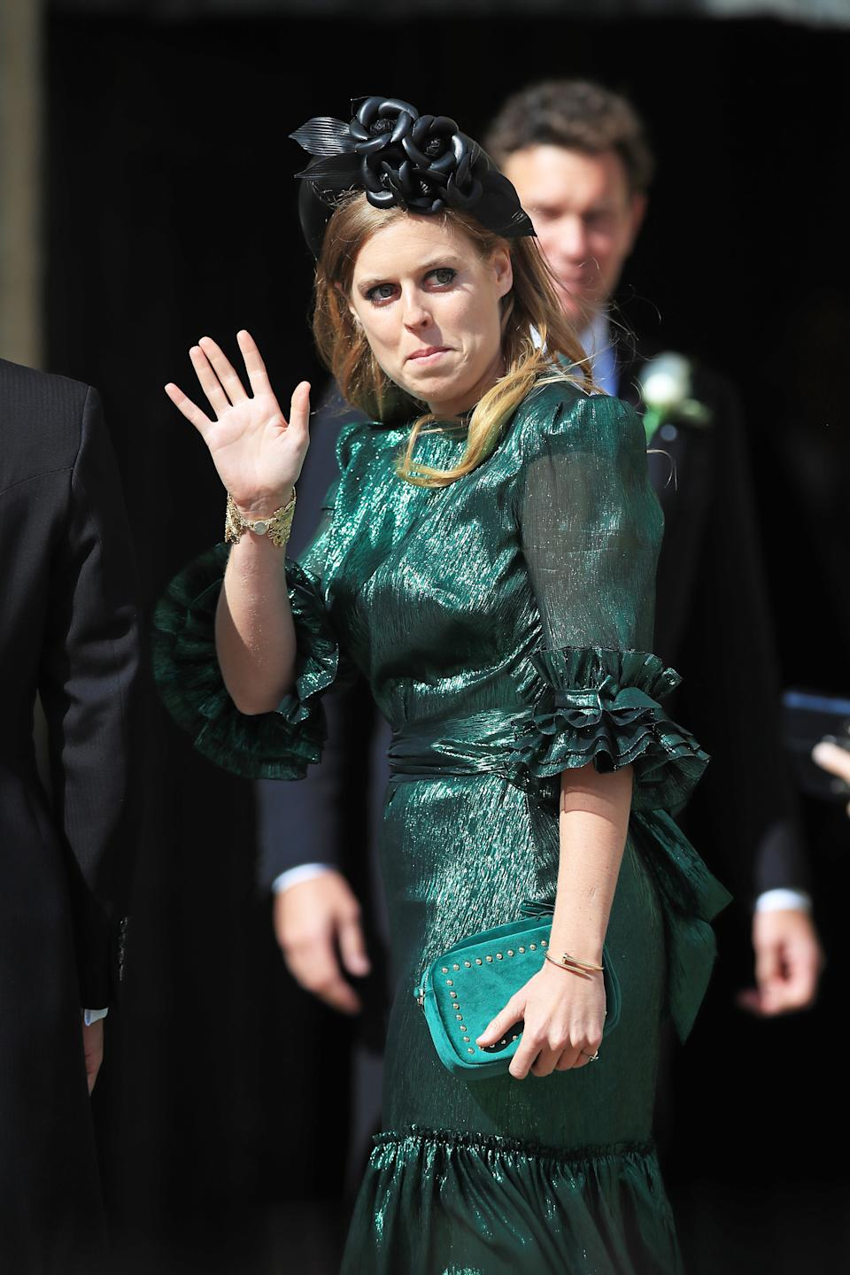 Princess Beatrice of York has previously worn a similar design from the label on two occasions last year. (Getty)