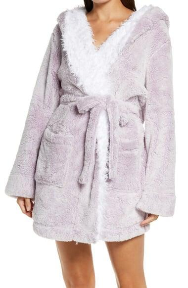 <p>They'll love lounging in the <span>Honeydew Intimates Be Mine Hooded Robe</span> ($49).</p>