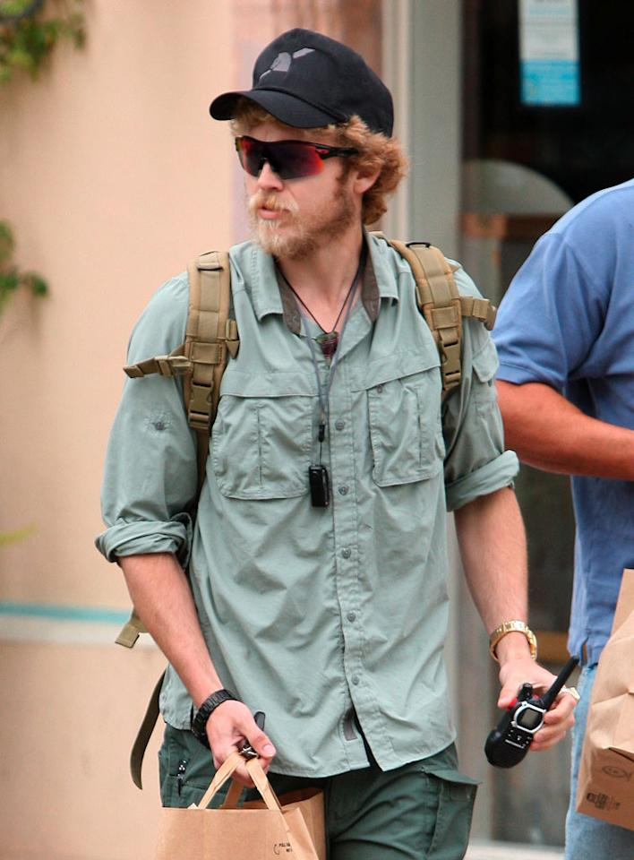 """In addition to shaving, Spencer Pratt should really consider ditching a few (if not all!) of his cheesy accessories, including the shades, gold Rolex, and creepy crystal necklace. <a href=""""http://www.x17online.com"""" target=""""new"""">X17 Online</a> - June 2, 2010"""