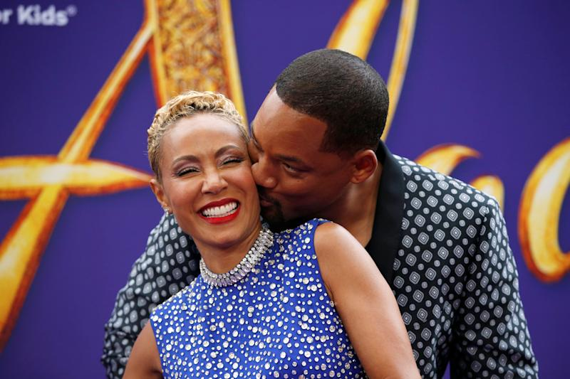Jada Pinkett Smith and Will Smith on the red carpet at the Aladdin premiere in May. (Photo: REUTERS/Mario Anzuoni)