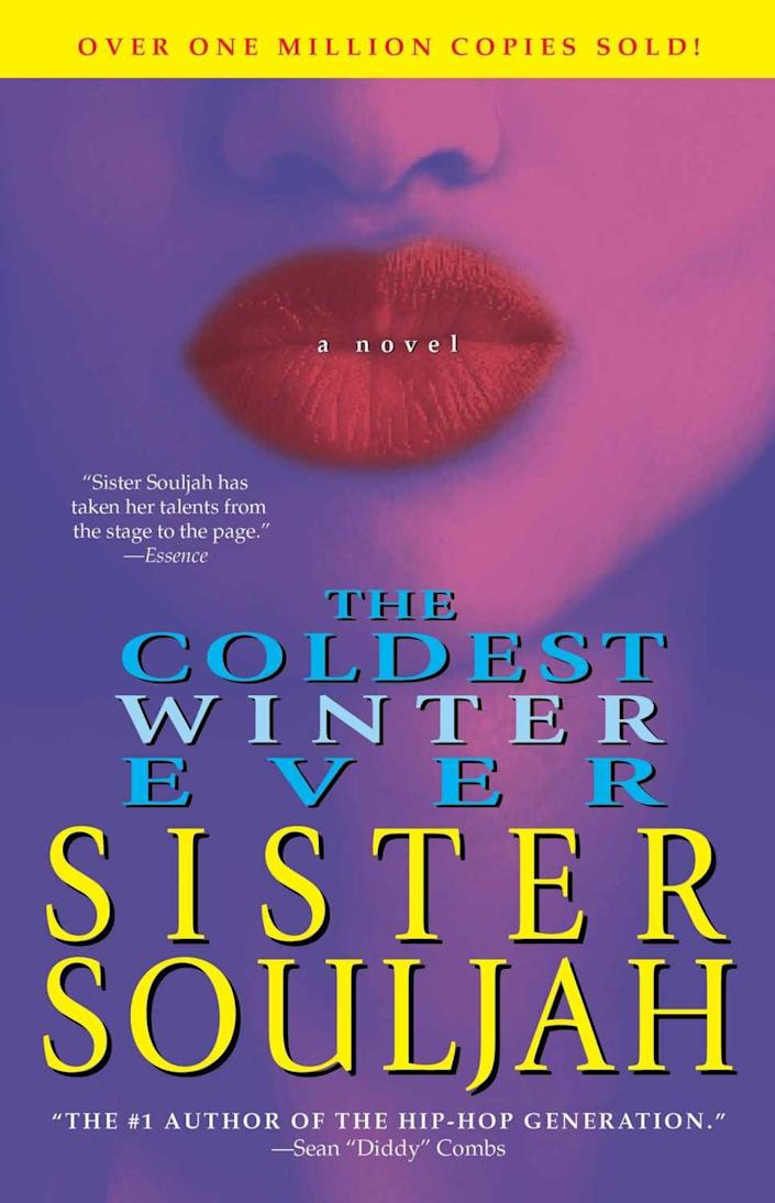 "Book jacket for Sister Souljah's ""The Coldest Winter Ever"""