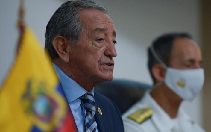 Ecuadorian Defence Minister Oswaldo Jarrin told a press conference that Chinese fishing vessels are disabling tracking systems while overfishing the waters around the Galapagos for squid - STRINGER /REUTERS