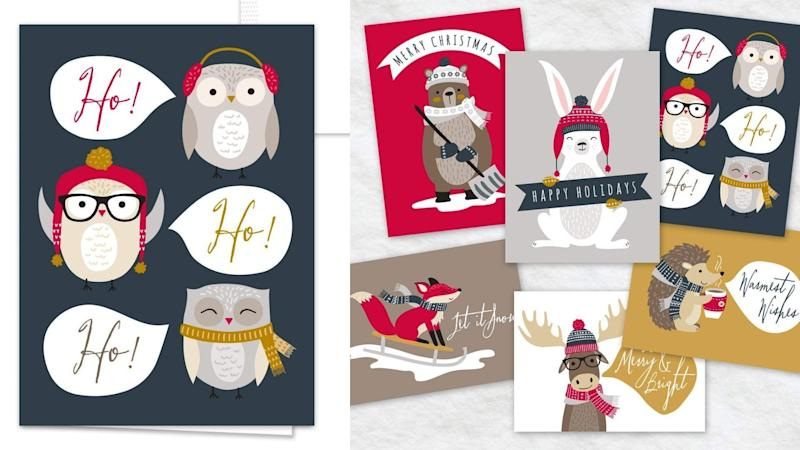 Best gifts for teachers 2019: Woodland Animals Holiday Card Pack