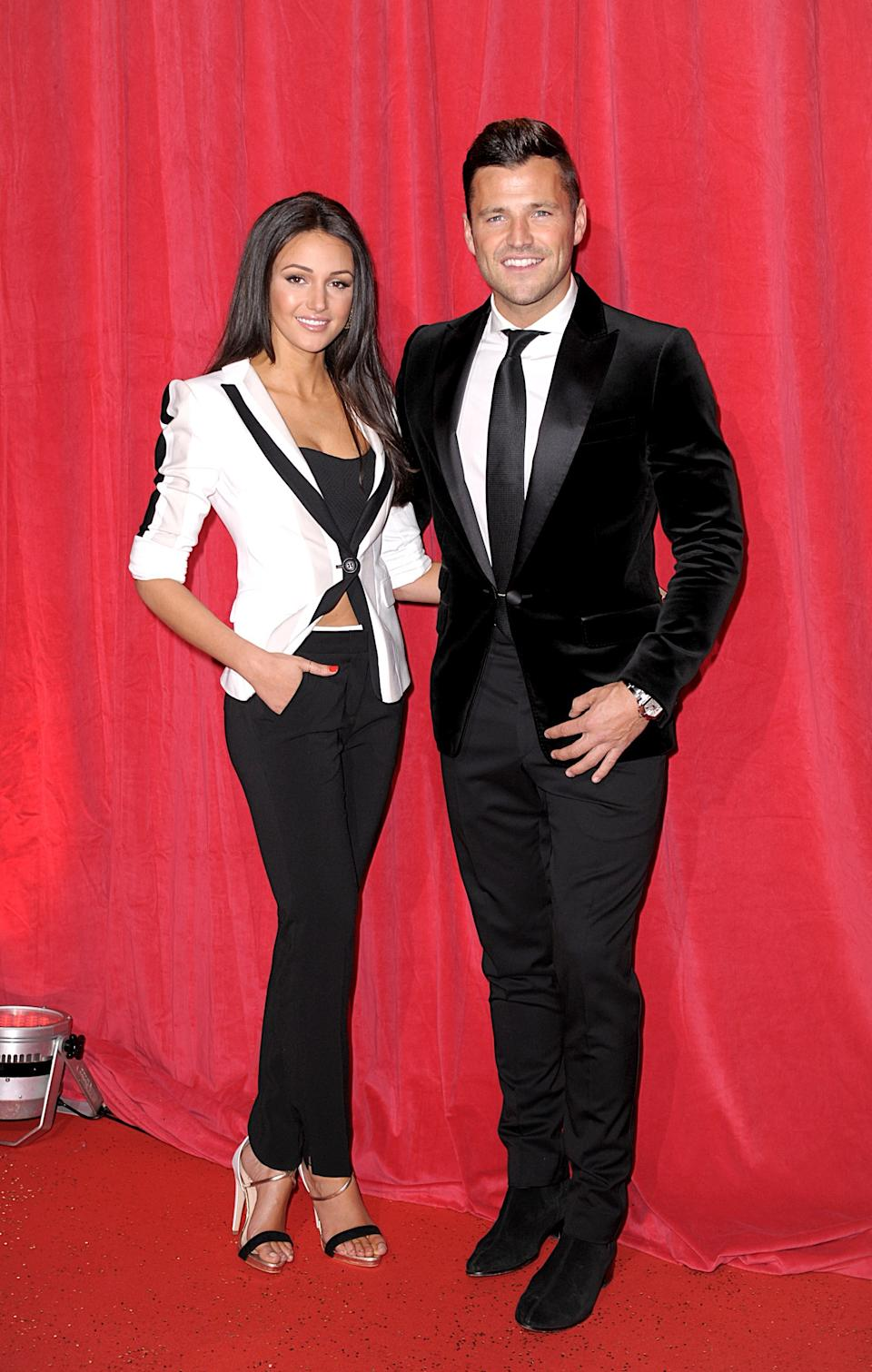 Michelle Keegan and Mark Wright arriving for the 2014 British Soap Awards at The Hackney Empire, 291 Mare St, London.