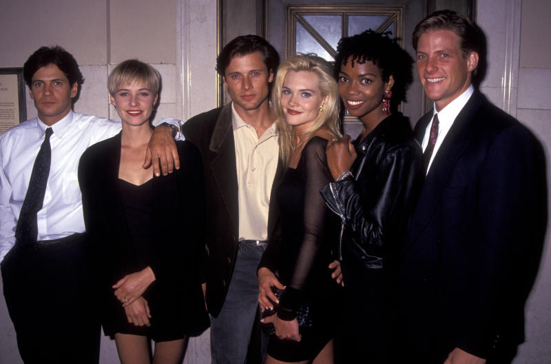 Amy Locane appears with