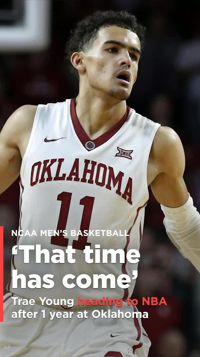 The 19-year-old guard told ESPN that he has decided to leave the University of Oklahoma after one season and declare for the 2018 NBA Draft.