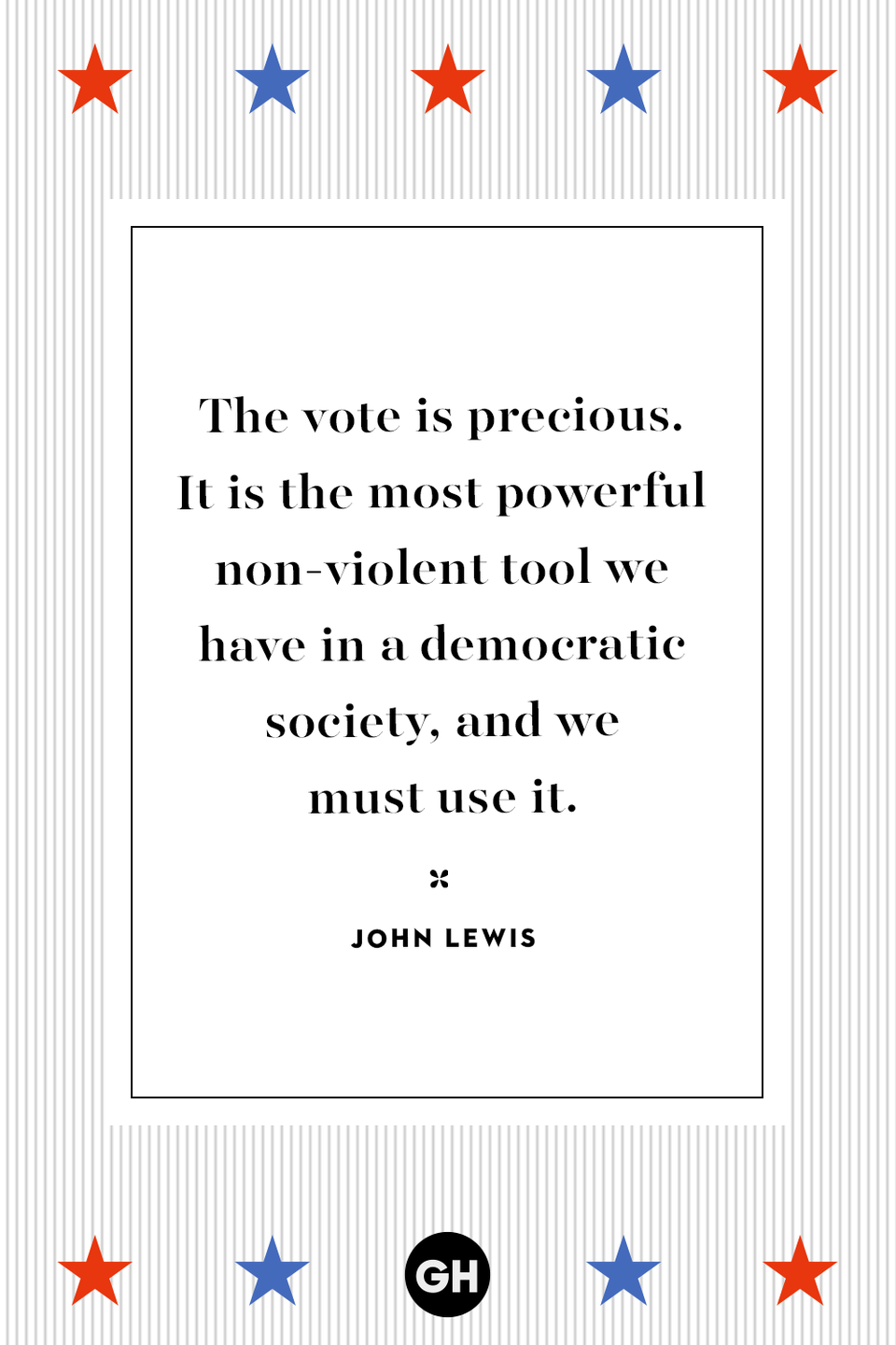 <p>The vote is precious. It is the most powerful non-violent tool we have in a democratic society, and we must use it.</p>